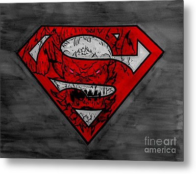 Superman And Doomsday R G Metal Print