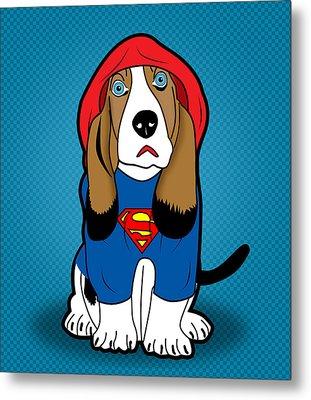 Superman Dog  Metal Print
