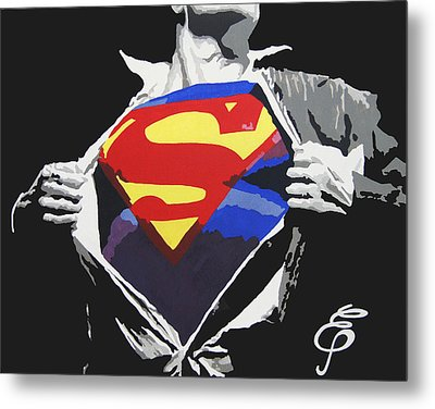Superman Metal Print by Erik Pinto
