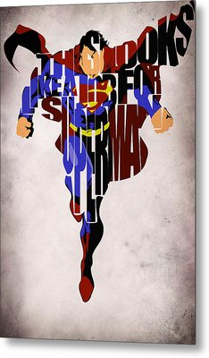 Superman - Man Of Steel Metal Print
