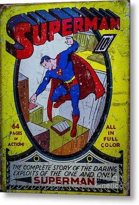 Superman Metal Print by Mitch Shindelbower