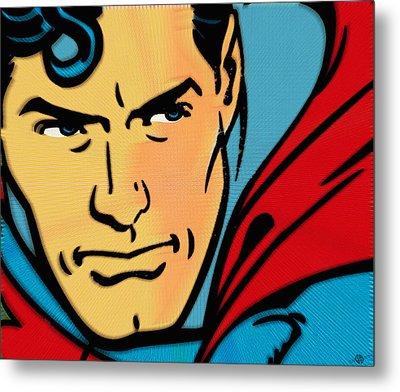 Superman Pop Metal Print by Tony Rubino