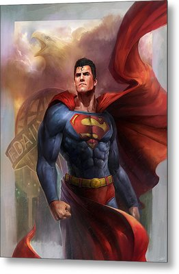 Man Of Steel Metal Print