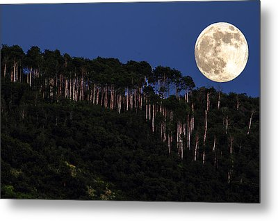 Supermoon Over Moon Hill Metal Print