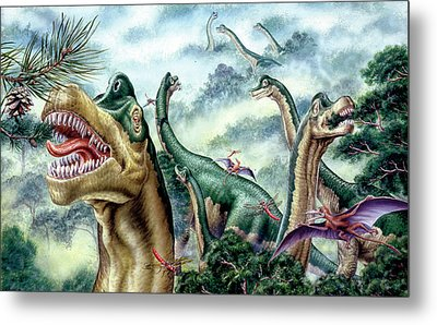 Supersaurus Dinosaurs Metal Print