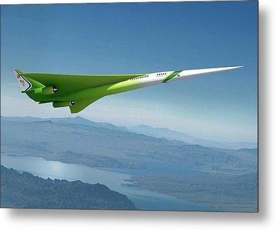 Supersonic Plane Concept Metal Print by Nasa/lockheed Martin