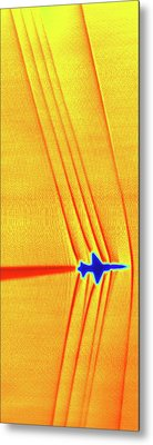 Supersonic Shock Waves Metal Print by Nasa