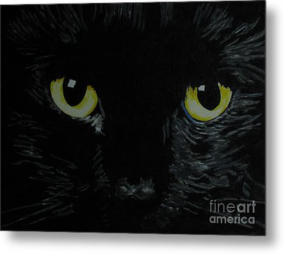 Superstitious Eyes Metal Print by Nancie Johnson