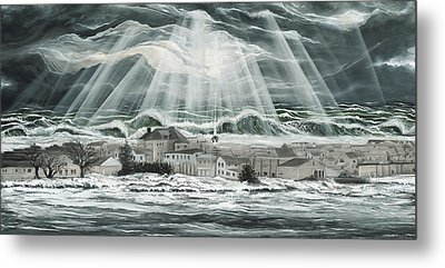 Superstorm Sandy Sea Bright Nj Metal Print by Ronnie Jackson
