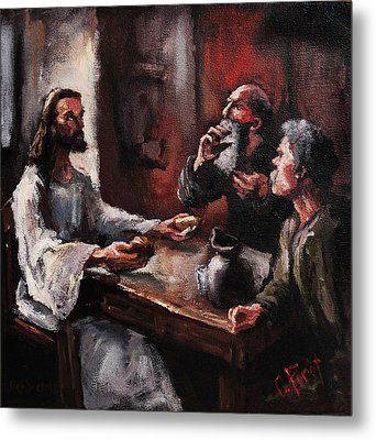 Supper At Emmaus Metal Print by Carole Foret