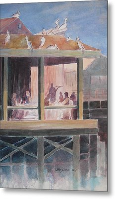 Supper Time Metal Print by John  Svenson