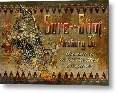 Sure Shot Archery Metal Print by JQ Licensing