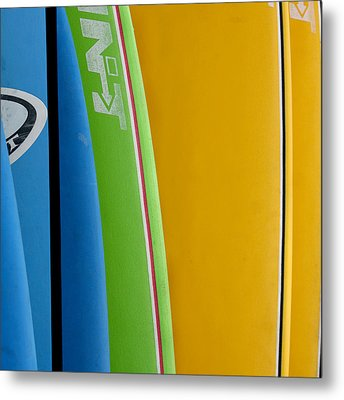 Surf Boards Metal Print