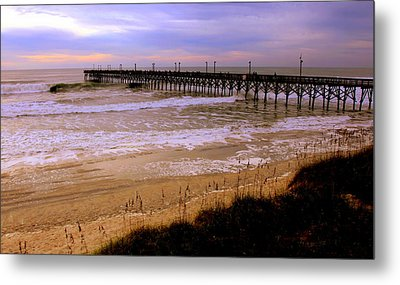 Surf City Pier Metal Print