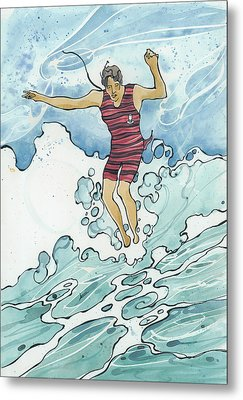 Surf Leap Metal Print
