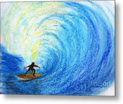 Surf Metal Print by Serene Maisey