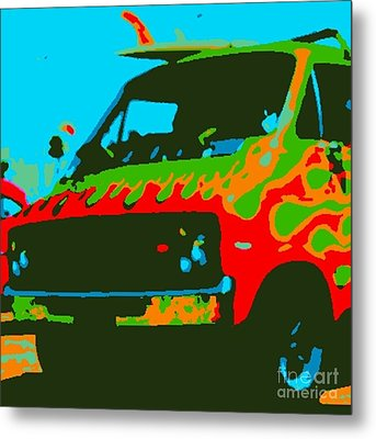 Surf Wagon Metal Print by James Eye