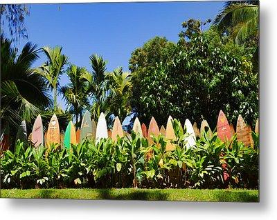 Surfboard Fence - Left Side Metal Print