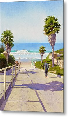 Surfer Dude At Fletcher Cove Metal Print