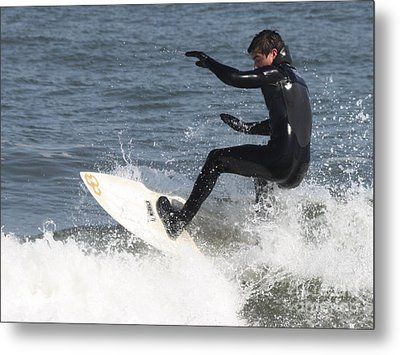 Metal Print featuring the photograph Surfer On White Water by John Telfer