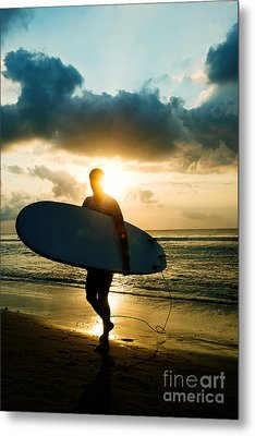 Surfer Metal Print by Yew Kwang