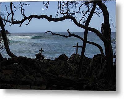 Surfers Resting Grounds Metal Print by Brad Scott