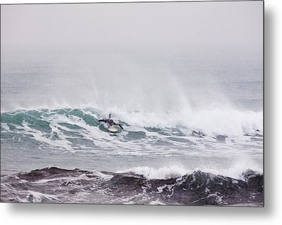Surfing In The Snow Metal Print by Tim Grams