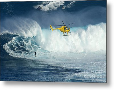 Surfing Jaws 6 Metal Print by Bob Christopher