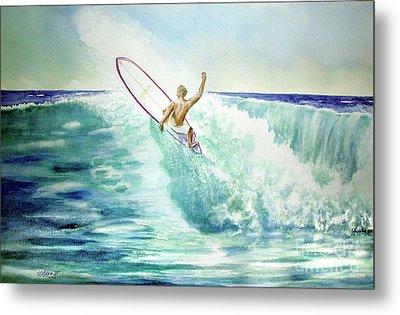 Surfing California Metal Print