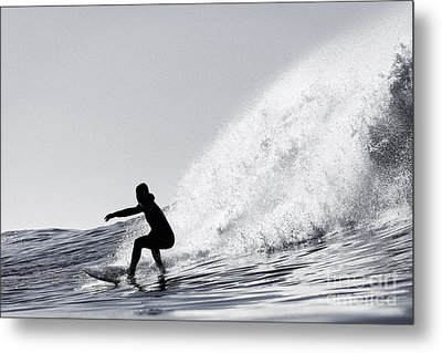 Metal Print featuring the photograph Surfing The Avalanche by Paul Topp