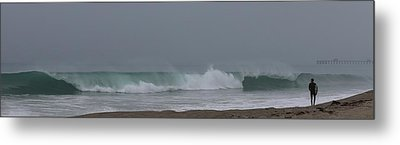 Metal Print featuring the photograph Surfs Up by Christy Pooschke