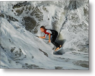 Metal Print featuring the photograph Surfs Up by James Kirkikis