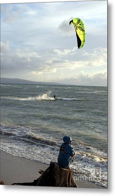 Metal Print featuring the photograph Surfs Up by Mary Lou Chmura