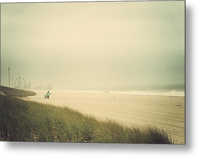 Surf's Up Seaside Park New Jersey Metal Print by Terry DeLuco