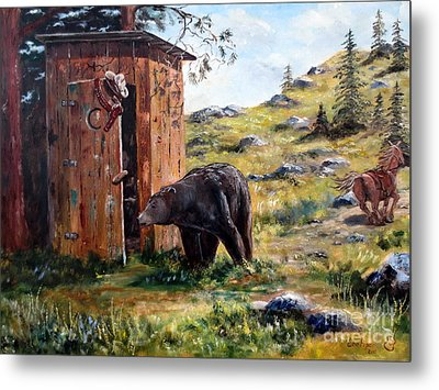 Metal Print featuring the painting Surprise Visit by Lee Piper