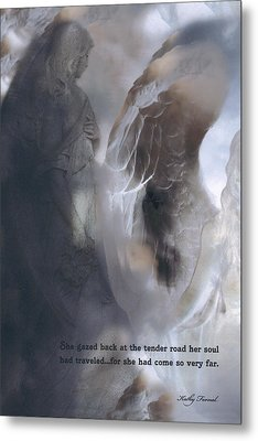 Surreal Dreamy Ethereal Fantasy Spiritual Angel Art With Inspirational Message Metal Print by Kathy Fornal