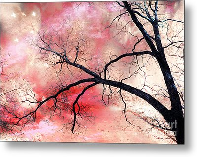 Surreal Fantasy Gothic Nature Tree Sky Landscape - Fantasy Nature Metal Print by Kathy Fornal