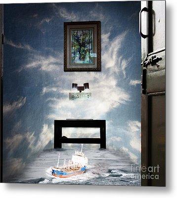 Surreal Living Room Metal Print by Laxmikant Chaware
