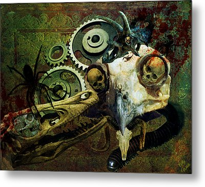 Metal Print featuring the painting Surreal Nightmare by Ally  White