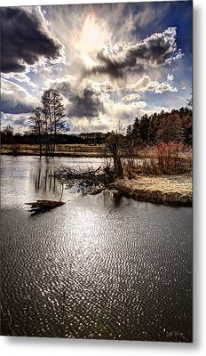 Surreal Sky At Sunfish Pond Metal Print