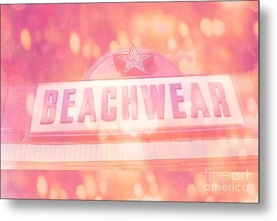 Surreal Summer Beachwear Sign - Mrytle Beach South Carolina Metal Print by Kathy Fornal