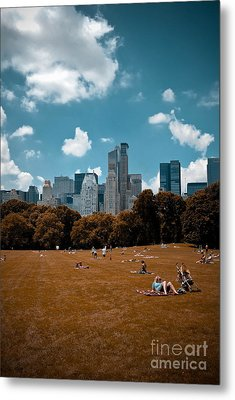 Surreal Summer Day In Central Park Metal Print by Amy Cicconi
