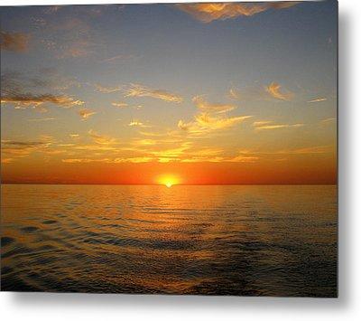 Surreal Sunrise At Sea Metal Print