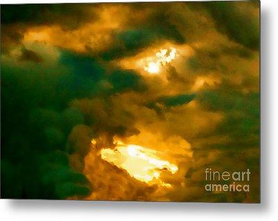 Surreal Sunset Metal Print by Anita Lewis