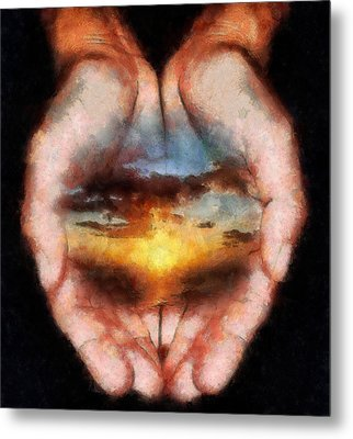 Surreal Sunset Metal Print by Georgi Dimitrov
