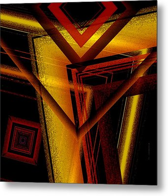 Surrealist Geometry With Brightness And Shadows Metal Print by Mario Perez