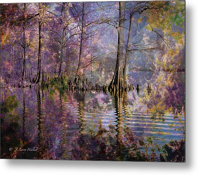 Surrealistic Morning Reflections Metal Print by J Larry Walker