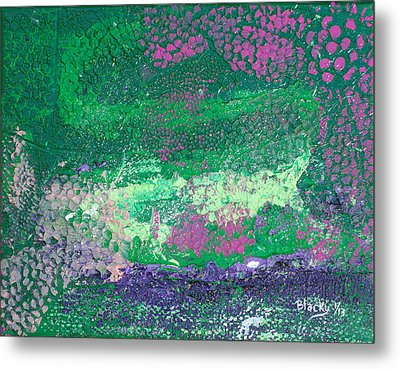 Surrounded By The Garden Metal Print by Donna Blackhall