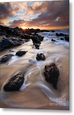 Surrounded By The Tides Metal Print by Mike  Dawson