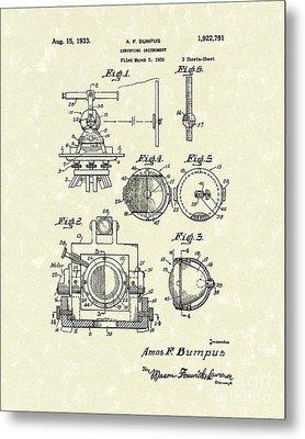 Surveying Instrument 1933 Patent Art Metal Print